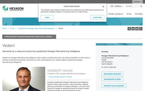 Screenshot of Team Page hexagonmi.com - Vedení | Hexagon Manufacturing Intelligence - captured Oct. 21, 2018