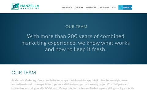 Screenshot of Team Page manzellamarketing.com - Marketing & Advertising Professionals: Creative Agency Buffalo, NY | Manzella Marketing - captured Oct. 2, 2018