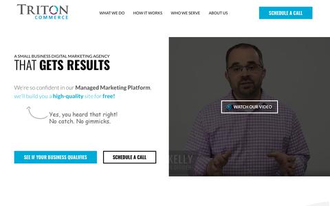 Screenshot of Home Page tritoncommerce.com - Web Design & Digital Marketing Agency - Minneapolis MN | Triton Commerce - captured April 28, 2019