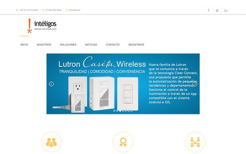 Screenshot of Home Page inteligos.com - Inteligos - captured May 10, 2017