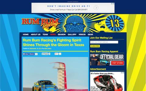 Screenshot of Press Page rumbumracing.com - Rum Bum Racing - captured Sept. 30, 2014