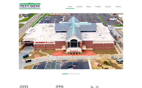 Screenshot of Home Page frontrangeroofing.com - Front Range Roofing - captured Oct. 11, 2018
