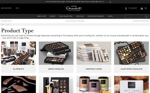 Screenshot of Products Page hotelchocolat.com - Browse Hotel Chocolat's full range of Chocolates & Gifts - Hotel Chocolat - captured Feb. 17, 2017