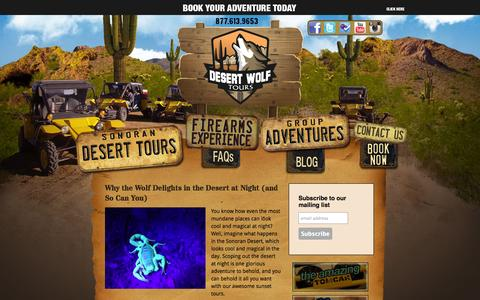 Screenshot of Blog desertwolftours.com - Tips and Tricks From The Wolf | Phoenix Scottsdale Sonoran Desert Adventure Tours - captured Sept. 30, 2014