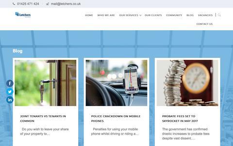 Screenshot of Blog letchers.co.uk - Blog – Letchers Solicitors - captured Nov. 10, 2018