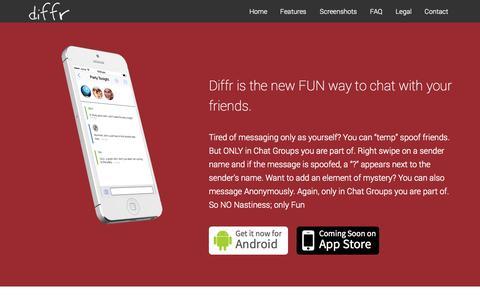Screenshot of Home Page getswitchapp.com - Diffr - captured Oct. 7, 2014