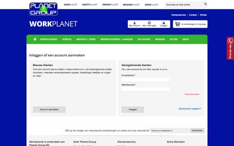 Screenshot of Login Page workplanet.nl - Klant-login - Workplanet.nl - captured Oct. 8, 2014