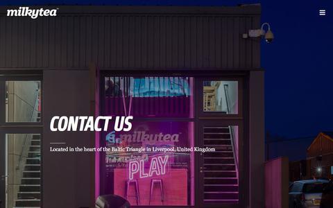 Screenshot of Contact Page milkytea.com - Contact Us – Milky Tea - captured Sept. 20, 2018