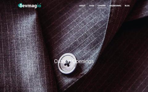 Screenshot of Jobs Page devmag.io - devmag.io - Careers - captured Dec. 12, 2015