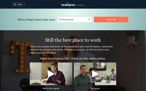Screenshot of Jobs Page lendingtree.com - Home - LT Careers - captured Sept. 24, 2019