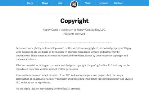 Screenshot of Privacy Page happycog.com - Privacy Policy - captured Sept. 22, 2014