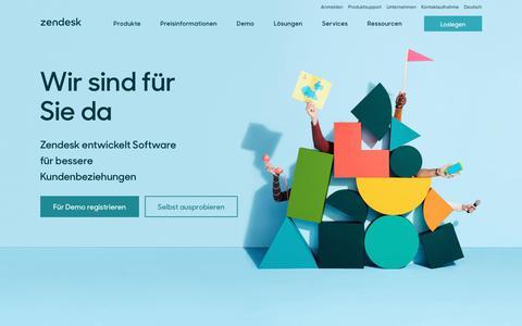 Screenshot of Home Page zendesk.de - Zendesk   Kundenservice-Software & Supportticketsystem - captured June 25, 2017