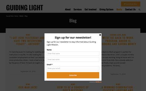 Screenshot of Blog lifeonthestreet.org - Blog - Guiding Light - captured Nov. 16, 2016