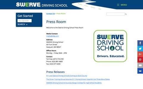 Screenshot of Press Page goswerve.com - Press Releases & Media Contact | GoSwerve.com - captured Nov. 18, 2016