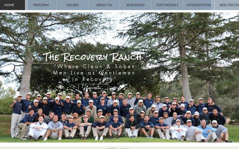 Screenshot of Home Page therecoveryranch.com - Recovery Ranch men's Sober Living & Rehab in Santa Barbara CA - captured Sept. 19, 2018