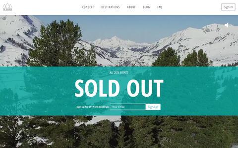 Screenshot of Home Page theskiweek.com - The Ski Week - captured Feb. 22, 2016