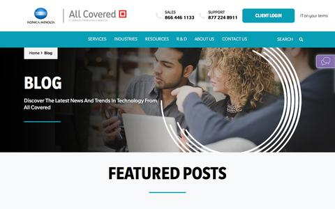 Screenshot of Blog allcovered.com - Blog - All Covered - captured Aug. 13, 2019
