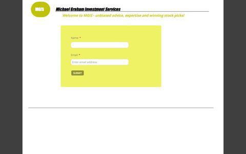Screenshot of Signup Page michaelgrahamis.com - Download - captured Oct. 27, 2014