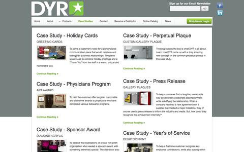 Screenshot of Case Studies Page designyourrecognition.com - Case Studies - captured Sept. 30, 2014