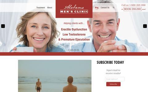 Screenshot of Blog alabamamaleclinic.com - BLOG | Birmingham AL ED Clinic, Men's Sexual Health - captured Feb. 2, 2016