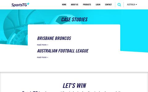 Screenshot of Case Studies Page sportstg.com - Case Studies – SportsTG - captured Nov. 14, 2016
