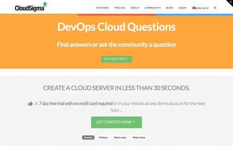 Screenshot of FAQ Page cloudsigma.com - Questions and Answers - captured Aug. 12, 2019