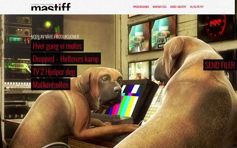 Screenshot of Home Page mastiff.no - Mastiff AS - captured Jan. 27, 2015