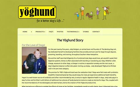 Screenshot of About Page yoghund.com - The Yöghund Story | Yoghund - captured Oct. 9, 2014