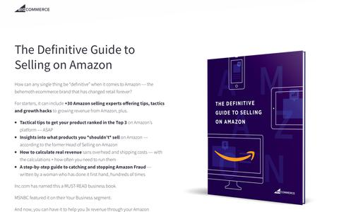 Screenshot of Landing Page bigcommerce.com - The Definitive Guide to Selling on Amazon | BigCommerce - captured May 11, 2018