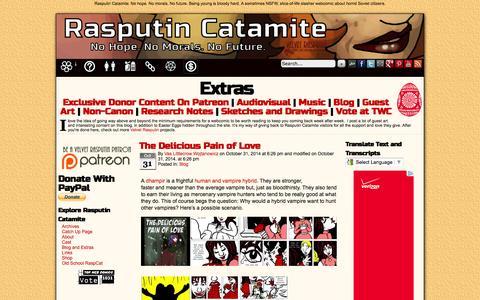 Screenshot of Blog rasputincatamite.com - Rasputin Catamite » Blog - captured Nov. 1, 2014