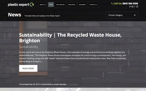 Screenshot of Press Page plasticexpert.co.uk - News - Plastic Expert - captured Sept. 30, 2014