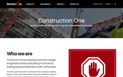 Screenshot of About Page constructionone.com - About Construction One   Construction Manager   General Contractor   Columbus - captured Aug. 25, 2017