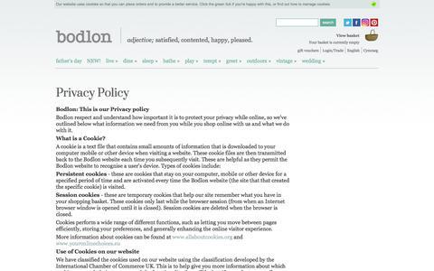 Screenshot of Privacy Page bodlon.com - Bodlon Privacy Policy | Bodlon - captured June 2, 2017