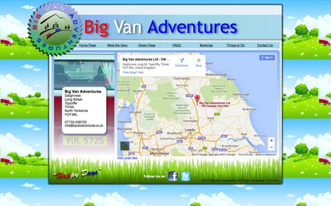 Screenshot of Contact Page bigvanadventures.co.uk - Big Van Adventures Contact Us - captured Feb. 7, 2016