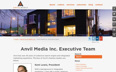 Screenshot of Team Page anvilmediainc.com - The Anvil Executive Team | Anvil Media Inc. - captured Oct. 10, 2014
