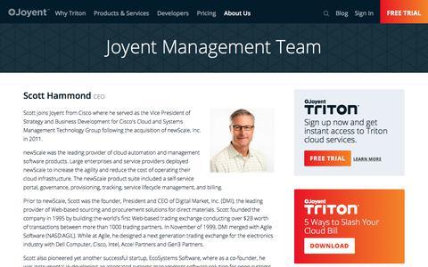 Screenshot of Team Page joyent.com - Management Team | Joyent - captured Dec. 26, 2017
