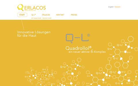 Screenshot of Home Page erlacos.com - Start - captured Oct. 8, 2014