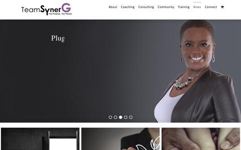 Screenshot of Press Page teamsynerg.com - News · Team SynerG - captured Oct. 20, 2018