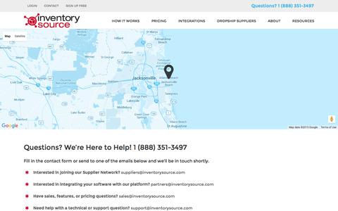 Screenshot of Contact Page inventorysource.com - Contact Inventory Source - captured Nov. 25, 2015