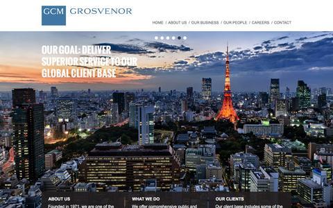 Screenshot of Home Page gcmlp.com - GCM Grosvenor - captured Jan. 22, 2016