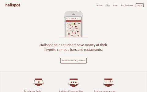 Screenshot of Home Page hallspot.com - Hallspot - College life, connected. - captured July 17, 2014