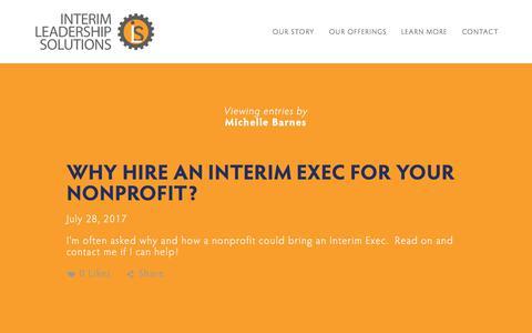 Screenshot of Blog interimleadership.biz - BLOG — Interim Leadership Solutions - captured Oct. 15, 2017
