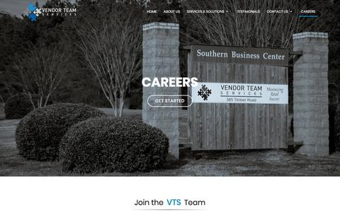 Screenshot of Jobs Page vendorteamservices.com - VTS - Careers - captured Sept. 21, 2018