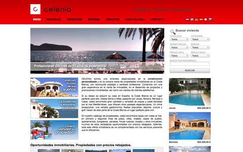 Screenshot of Home Page inmobiliariacelenia.com - Casas en venta en España | Inmobiliaria Celenia - captured Sept. 30, 2014