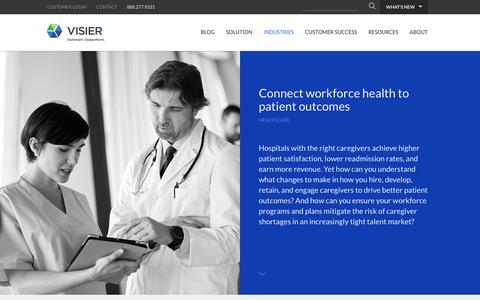 Healthcare | Visier Inc.
