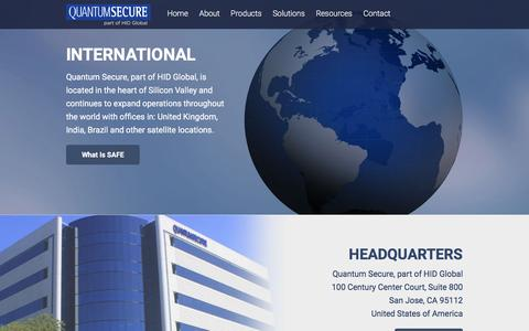 Screenshot of Locations Page quantumsecure.com - International | Quantum Secure - captured Dec. 4, 2015