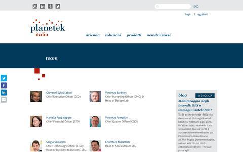 Screenshot of Team Page planetek.it - | Planetek Italia - captured Sept. 28, 2018