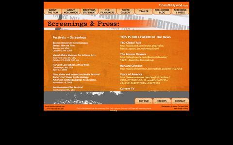 Screenshot of Press Page thisisnollywood.com - Screening & Press - captured June 7, 2016
