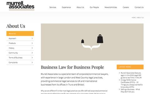 Screenshot of About Page murrellassociates.co.uk - About Us | Murrell Associates | Commercial Lawyers - captured Dec. 19, 2016