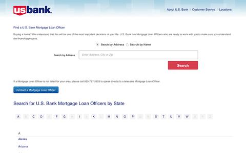 U.S. Bank Mortgage Loan Locator